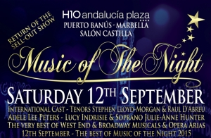 Entradas Gold para Music of the Night en Marbella